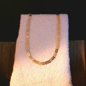 Jewelry - NEW Goldtone  Olive Leaves Style Choker/ Bracelet
